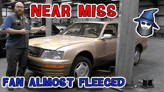 Wrong Diagnosis on Lexus LS400 Coach edition! CAR WIZARD saves a fan from being fleeced for 1000's