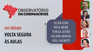 #AOVIVO | Volta segura às aulas | Observatório da Coronacrise