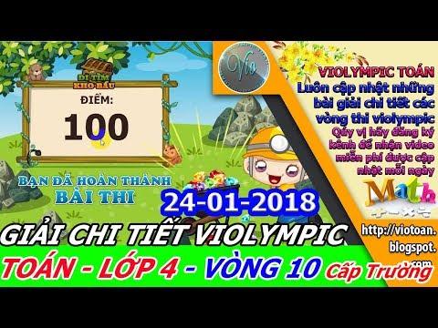 VIOLYMPIC TOÁN LỚP 4 VÒNG 10 NĂM HỌC 2017-2018