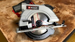 Einhell Cordless Circular Saw & Guide Rail -TE CS 18/190Li- Unboxing & Test Cuts