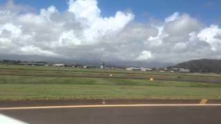preview picture of video 'Landing at Lihue airport in Kauai, Hi - Hawaiin Air'
