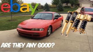 240SX EBAY COILOVER INSTALL & REVIEW pt. 1