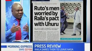 William Ruto's men worried by Raila's pact with Uhuru