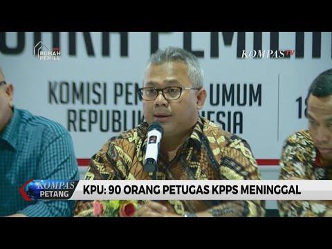 KPU Sebut 90 Petugas KPPS Meninggal dan 374 Orang Sakit