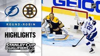 NHL Highlights | Lightning @ Bruins, Round Robin - Aug. 5, 2020