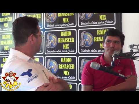 Prefeito Arizinho e Seu Vice Ivan na inauguração da Rádio Renascer de São Lourenço da Serra