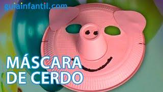 Mascara de cerdo, disfraces caseros para carnaval