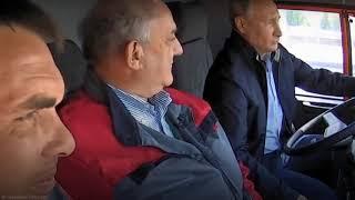 Владимир Путин проехался на КамАЗе про Крымскому мосту