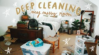 MASSIVE & MESSY ROOM DEEP CLEAN - Decluttering & Organizing