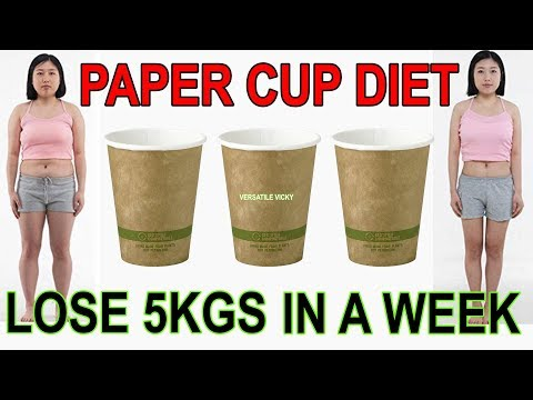 Paper Cup Diet | Lose 5Kg In A Week | Weight Loss Diet Plan To Lose 5 Kgs in 7 Days