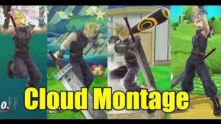 Cloud's Various Animations Montage & MUCH MORE (Super Smash Bros Wii U)