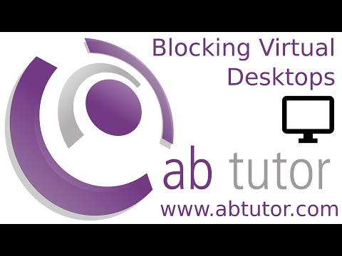 Blocking virtual desktops with AB Tutor v9