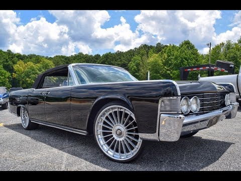 "'65 Lincoln Continental vert on 24"" Forgiato Technica wheels (Whips by Wade ""Certified Summer"")"