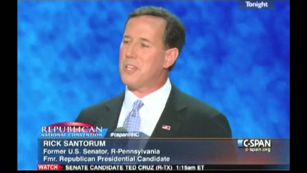 Hand Love Speech By Rick Santorum thumbnail