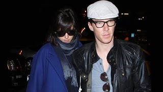 Бенедикт Камбербэтч, X17 EXCLUSIVE - Benedict Cumberbatch Protects Pregnant Fiancee Sophie Hunter At LAX