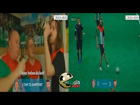 Juegan Futbol Borrachos Drunk Football