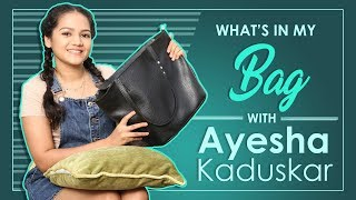 What's In My Bag With Ayesha Kaduskar | Exclusive | India Forums
