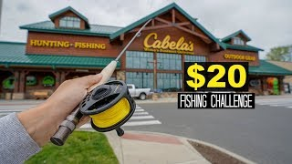 $20 Cabelas FLY Fishing Challenge!! (Surprising!)