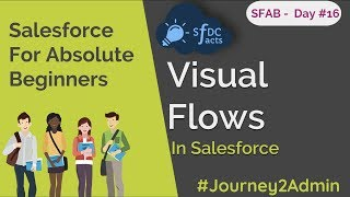 SFAB Day #16 | Visual Flows In Salesforce | SFDCFacts