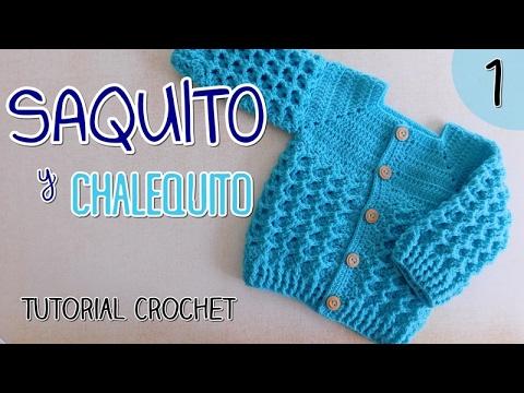Ajuar: Saquito a crochet para bebes (1/2)
