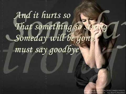 Celine Dion - Goodbye's the saddest word with lyrics