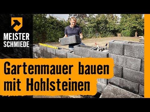 Gartenmauer bauen mit Hohlsteinen   HORNBACH Meisterschmiede