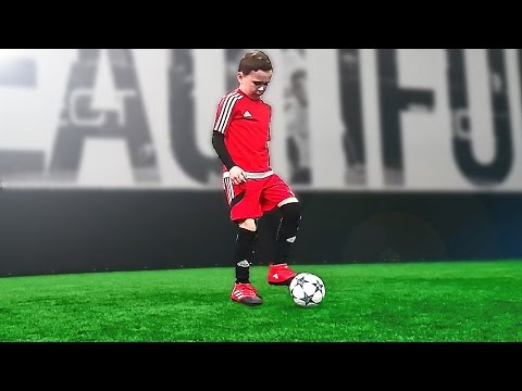 8 Year Old Kid Shows Football Skills - Tutorial for Kids