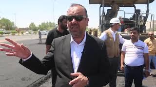الياسري يكمل تعبيد واكساء شارع القوسي الشمالي في محافظة النجف الاشرف