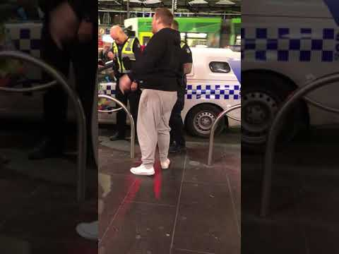 Fight in flinder street (kfc)