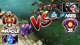 RANK 4 Miracle- Arc Warden vs LVL 25 Master Tier Meepo Spammer Ares - EPIC Match Dota 2