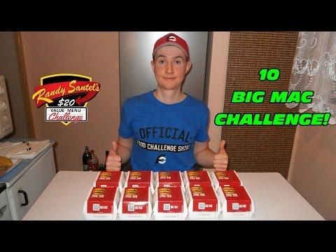 Randy Santel's $20 McDonald's Value Menu Challenge (10 Big Macs Challenge)