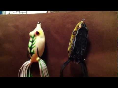 Soft Body Topwater Frog Bass Fishing Lures Product Review … Lily pad Big Bass Fishing!