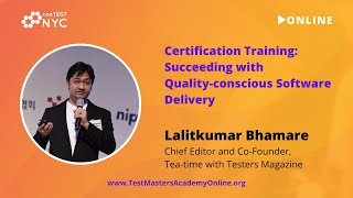 "Lalitkumar Bhamare Training ""Succeeding with Quality-conscious Software Delivery"" at ConTEST2021"