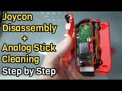 Joycon Disassembly Step By Step + Analog Stick Cleaning