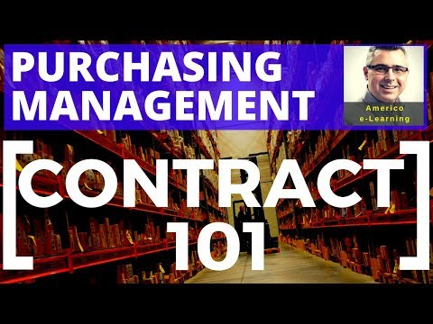 Contract Management 101 - Purchasing and Project Procurement ...