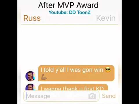 Durant Texting Westbrook and Harden Part 2