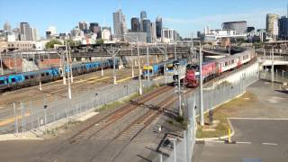 preview picture of video 'North Melbourne 2014 Railway Action'