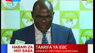 IEBC Chairman Wafula Chebukati talks about by-elections in Ruguru and Kinondoni Wards