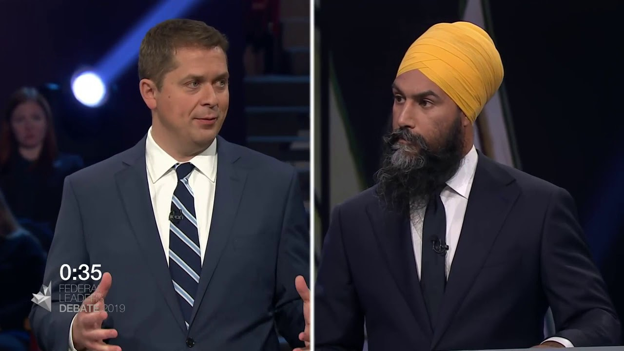 Andrew Scheer debates Jagmeet Singh about First Nations consent for new pipelines
