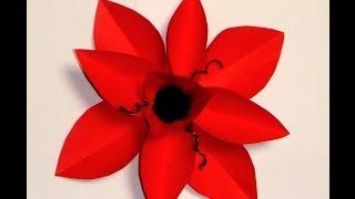 Украшения из бумаги .Handmade.Цветок из бумаги,flower,