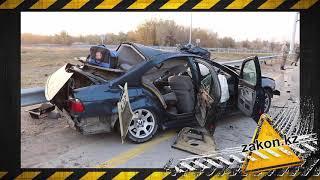BMW залетела под военный КамАЗ