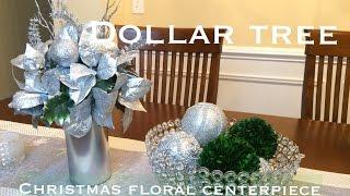 Dollar Tree Christmas Centerpiece DIY|VD#1
