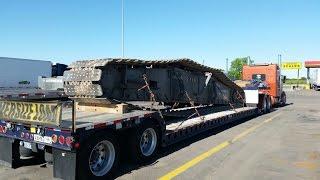 Дальнобой. США.  Гусеница весом в 30 тон. Рейс из Техаса в Арканзас.