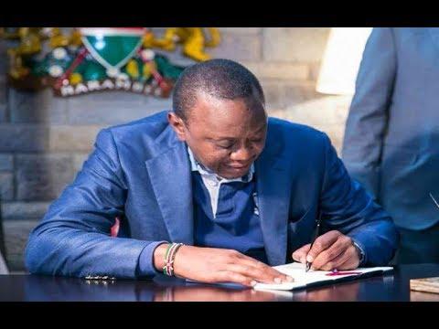 BREAKING NEWS: President Uhuru Kenyatta signs bill into law
