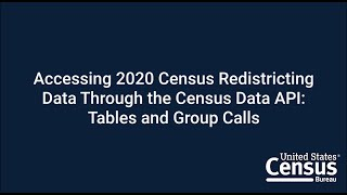 Accessing 2020 Census Redistricting Data Through the Census Data API: Tables and Group Calls