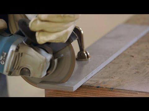Come troncare con un disco diamantato su una molatrice angolare?