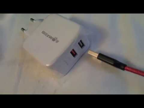 BlitzWolf® BW-S6 QC3.0+2,4A 30W Caricabatterie Doppio USB Adattatore EU con Tecnologia Power3S