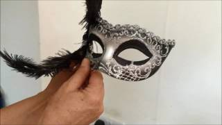 Attaching A Stick To A Masquerade Mask