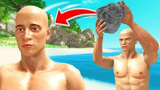 Hitting My FRIEND With A ROCK! (Hand Simulator)