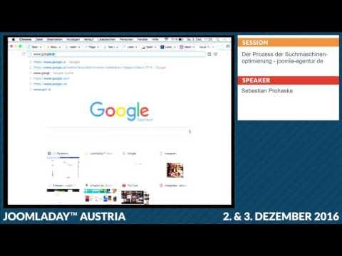 JD16AT - Der Prozess der Suchmaschinenoptimierung – Live Optimierung einer Joomla Webseite